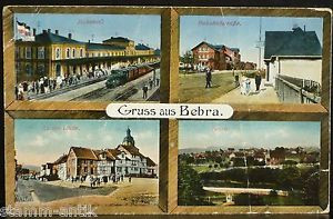 Bebra,Kassel,Bahnhof,Dampflokomotive,Bahnhofstraße,An der Linde,Ansichtskarte