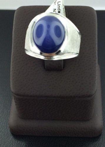 Gent's 14k white gold Linde star ring, 18.8 grams