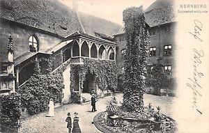 Nürnberg - Schlosshof mit Linde gl1906 166.506