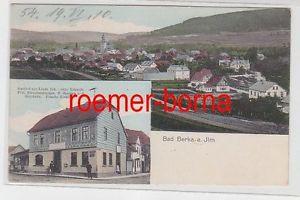 78938 Mehrbild Ak Bad Berka an der Ilm Gasthof zur Linde um 1910