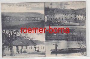 78115 Mehrbild Ak Stöben bei Camburg an der Saale Gasthaus zur Linde um 1930
