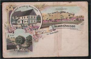 26455  Eschwege, Gruss aus Eltmannshausen, Litho, Gasthof zur Linde