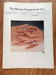 1967 Linde Star Jewelry Ad  The Return Engagement Star
