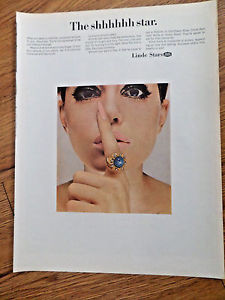 1967 Linde Star Jewelry Ad  The Shhhhhh Star