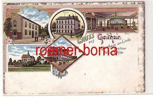 78416 Ak Lithografie Gruss aus Geithain Gasthaus zur Linde um 1900