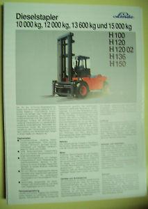Sales Brochure Original Prospekt Linde Dieselstapler H100,H120,H120 02,H136,H150