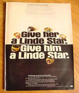 1968 Linde Star Jewelry Ad   Give Her Him a Linde Star Ring