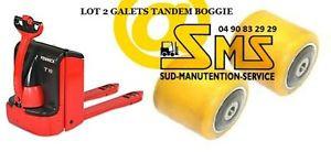 LOT 2 GALET 85 80 85 12 mm TRANSPALETTE LINDE T16 T18 T20 <N°360P