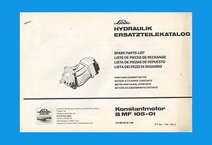 Linde Konstantmotor B MF 105-01  Ersatzteilliste  Claas  Ersatzteilkatalog