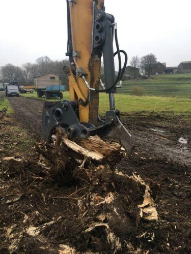 13 Ton Excavator Tree Stump Shear - Root Shear Root Harvester  CAT JCB KOMATSU