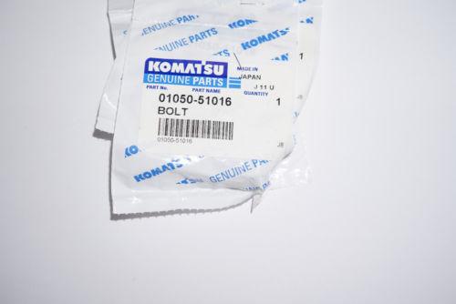 01050-51016 BOLT  NEW KOMATSU, lot of 4 pcs