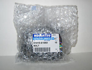 Lot of 10 Komatsu 01010-61660 Bolts
