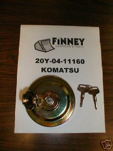 Komatsu Excavator Locking Fuel Cap 20Y-14-11160 NEW key