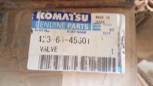 New Komatsu Hydraulic Valve 4236445601 / 4236445601 Made in Japan