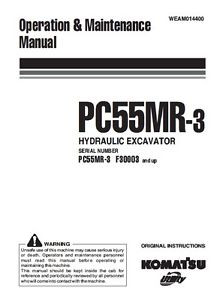 KOMATSU PC55MR-3 OPERATORS MANUAL ON CD *FREE POSTAGE*
