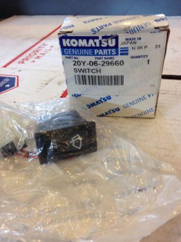 New OEM Komatsu Genuine Parts Switch #20Y-06-29660 Warranty! Fast Ship!
