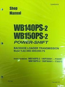 Komatsu Service WB140PS-2, WB150PS-2 Backhoe Manual