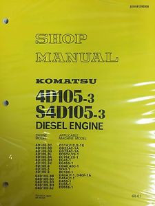 Komatsu 4D105-3 S4D105-3 Series Engine Factory Shop Service Repair Manual