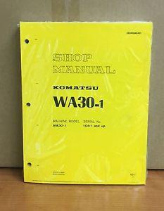 Komatsu WA30-1 Avance Wheel Loader Shop Service Repair Manual
