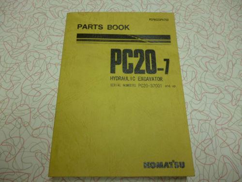 Komatsu PC20-7 EXCAVATOR  PARTS MANUAL