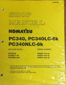 Komatsu PC340-6K, PC340LC-6K, PC340NLC-6K Hydraulic Excavator Shop Manual