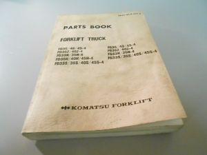 Komatsu Forklift Truck   FD35 FD35Z   Parts Book