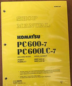 Komatsu PC600-7, PC600LC-7 Service Repair Manual