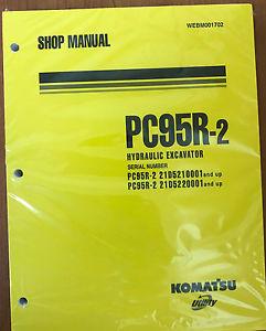 Komatsu Service PC95R-2 Excavator Shop Manual NEW #1
