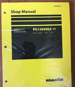 Komatsu PC138USLC-10 Service Repair Printed Manual