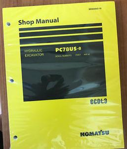Komatsu Service PC78US-8 Shop Manual NEW 15001 AND UP
