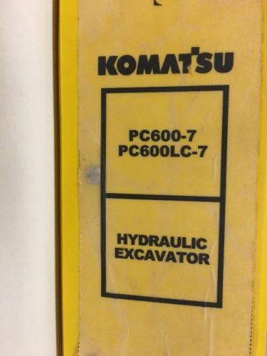 Komatsu PC600-7 PC00LC-7 Hydraulic Excavator Manual