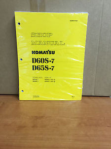 Komatsu D60S-7 D65S-7 SERVICE SHOP REPAIR MANUAL TRACTOR BULLDOZER