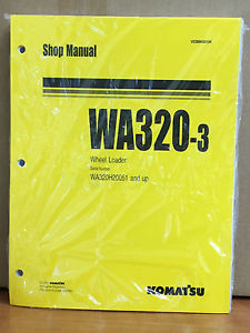 Komatsu WA320-3 Wheel Loader Shop Service Repair Manual (WA320H20051 & up)