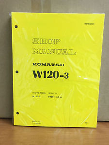 Komatsu W120-3 Wheel Loader Shop Service Repair Manual