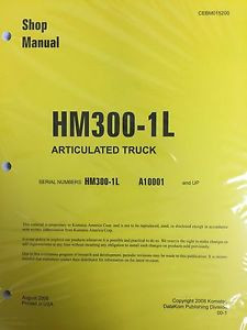 Komatsu HM300-1L Shop Service Manual Articulated Dump Truck