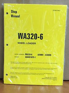 Komatsu WA320-6 Wheel Loader Shop Service Repair Manual