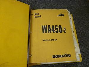 Komatsu WA450-2 Wheel Loader Shop Service Repair Manual S/N 25001-Up