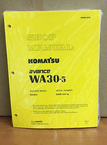 Komatsu WA30-5 Avance Wheel Loader Shop Service Repair Manual
