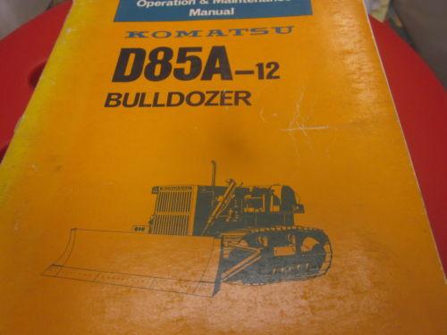 Komatsu D85A-12 Bulldozer Operation & Maintenance Manual