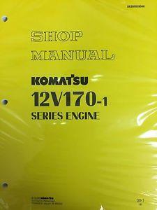 Komatsu 12V170-1  Series Engine Factory Shop Service Repair Manual