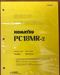 Komatsu Service PC18MR-2 Shop Repair Manual NEW