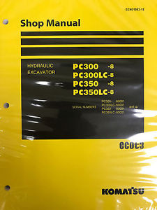 Komatsu PC130-8 Shop Service Repair Printed Manual