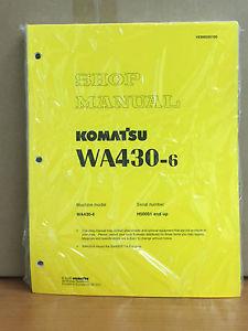 Komatsu WA430-6 Wheel Loader Shop Service Repair Manual