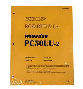 Komatsu Service PC50UU-2 Excavator Shop Repair Manual