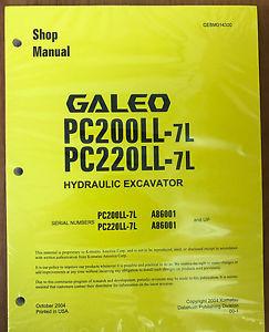 Komatsu PC200LL-7L, PC220LL-7L Hydraulic Excavator Shop Repair Service Manual
