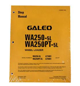 Komatsu WA250-5L, WA250PT-5L Service Repair Manual