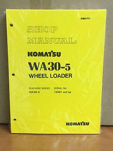 Komatsu WA30-5  Wheel Loader Shop Service Repair Manual