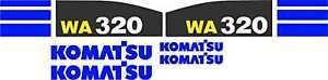 Komatsu WA320 Wheel Loader - Decal Graphics Kit