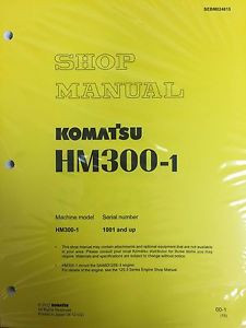 Komatsu HM300-1 Shop Service Manual Articulated Dump Truck