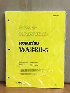 Komatsu WA380-5 Wheel Loader Shop Service Repair Manual